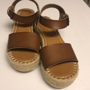 """Universal Thread """"Rae"""" Faux Leather Wedge Sandals"""